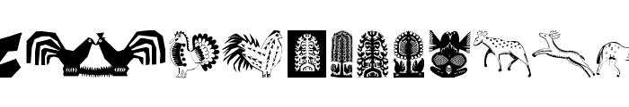 TribalDesignsQuattro Font UPPERCASE