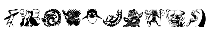 TribalDesignsUno Font OTHER CHARS