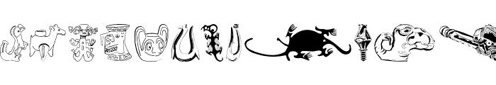 TribalDesignsUno Font UPPERCASE