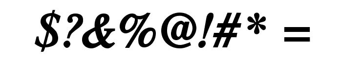 TribunADFStd-BoldCondItalic Font OTHER CHARS
