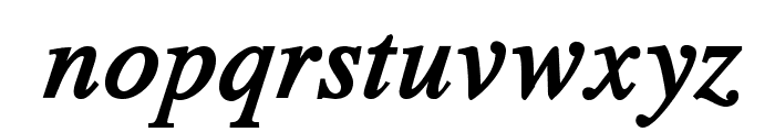 TribunADFStd-BoldCondItalic Font LOWERCASE