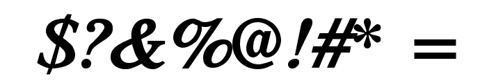 TribunADFStd-BoldItalic Font OTHER CHARS