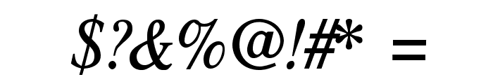TribunADFStd-CondItalic Font OTHER CHARS