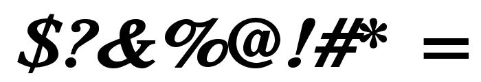 TribunADFStd-ExtraBoldItalic Font OTHER CHARS
