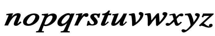 TribunADFStd-ExtraBoldItalic Font LOWERCASE
