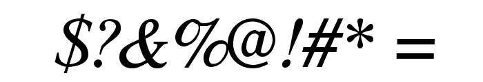 TribunADFStd-Italic Font OTHER CHARS