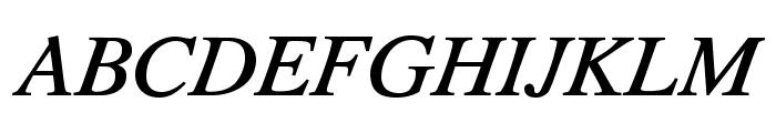 TribunADFStd-MediumItalic Font UPPERCASE