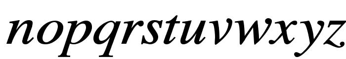 TribunADFStd-MediumItalic Font LOWERCASE