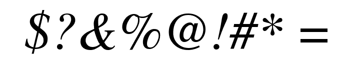 Tribune Italic Font OTHER CHARS