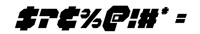 Trigger Man Condensed Italic Font OTHER CHARS