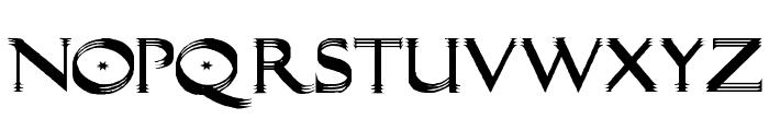 Trilayered Font UPPERCASE