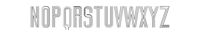 Trio Regular Font UPPERCASE