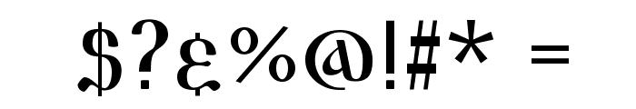 Triod Postnaja Font OTHER CHARS