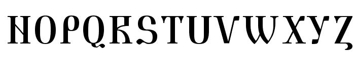 Triod Postnaja Font UPPERCASE
