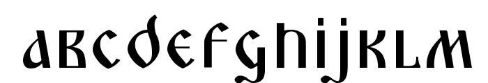 Triod Postnaja Font LOWERCASE