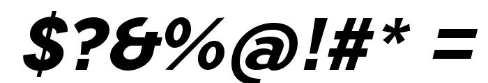 TripletaExtraBold-Italic Font OTHER CHARS