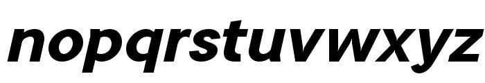 TripletaExtraBold-Italic Font LOWERCASE