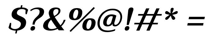 Trirong Bold Italic Font OTHER CHARS