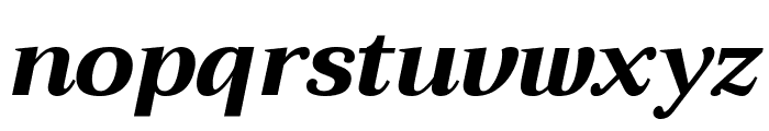 Trirong ExtraBold Italic Font LOWERCASE