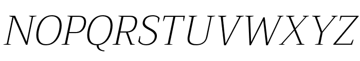 Trirong ExtraLight Italic Font UPPERCASE