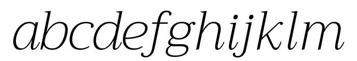Trirong ExtraLight Italic Font LOWERCASE