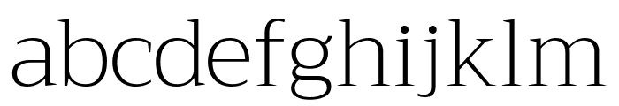 Trirong ExtraLight Font LOWERCASE