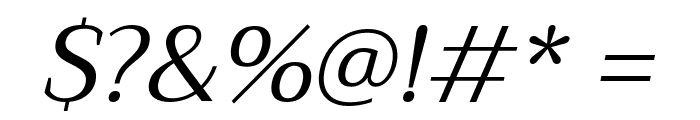 Trirong Italic Font OTHER CHARS