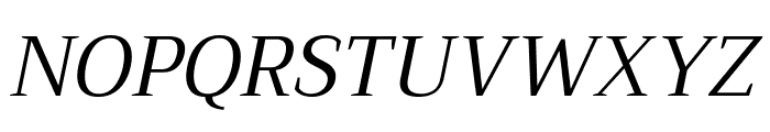 Trirong Italic Font UPPERCASE