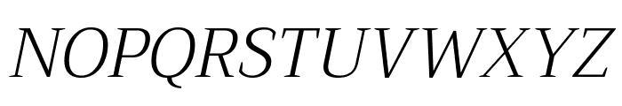 Trirong Light Italic Font UPPERCASE