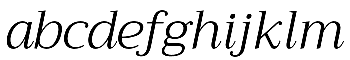 Trirong Light Italic Font LOWERCASE