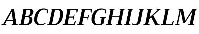 Trirong SemiBold Italic Font UPPERCASE