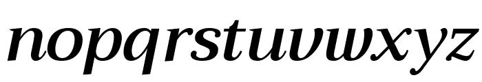 Trirong SemiBold Italic Font LOWERCASE