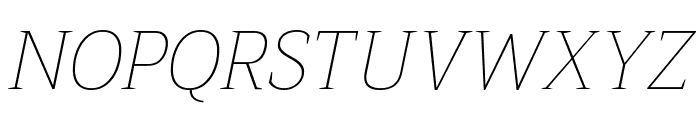Trirong Thin Italic Font UPPERCASE