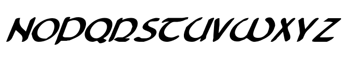 Tristram Bold Italic Font LOWERCASE