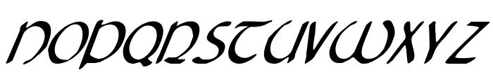 Tristram Condensed Italic Font UPPERCASE