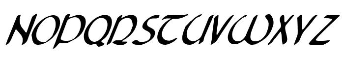 Tristram Condensed Italic Font LOWERCASE