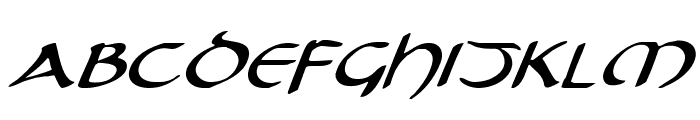 Tristram Expanded Italic Font UPPERCASE