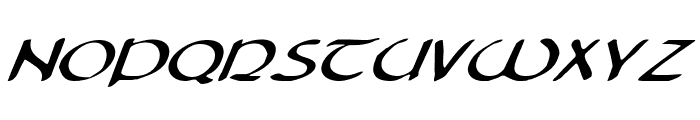 Tristram Expanded Italic Font LOWERCASE