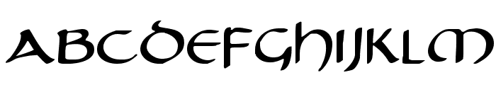 Tristram Expanded Font LOWERCASE