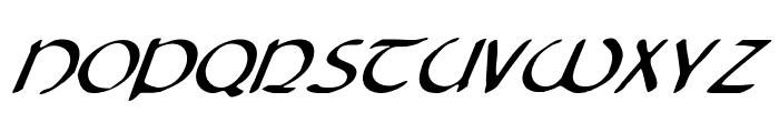Tristram Italic Font UPPERCASE