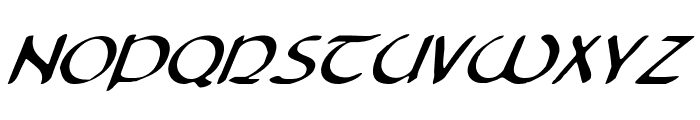 Tristram Italic Font LOWERCASE