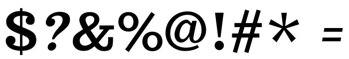 Trocchi-Oblique Font OTHER CHARS
