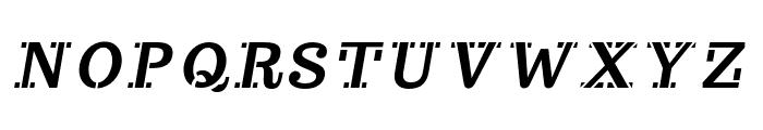 Trocchi-Oblique Font UPPERCASE