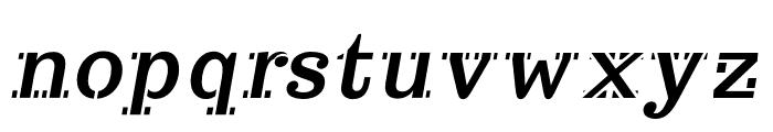 Trocchi-Oblique Font LOWERCASE