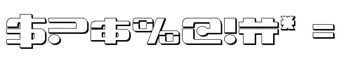 Troopers 3D Regular Font OTHER CHARS