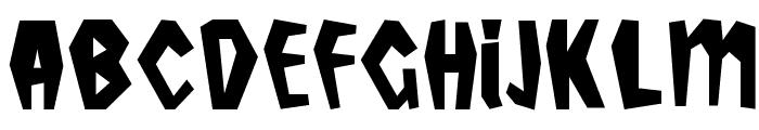 Tropicana Plain Font UPPERCASE