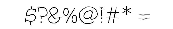 Trots Light - HMK Font OTHER CHARS