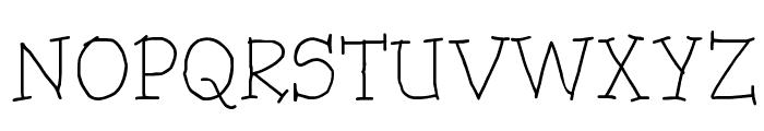 Trots Light - HMK Font UPPERCASE