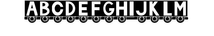 Truck Font LOWERCASE