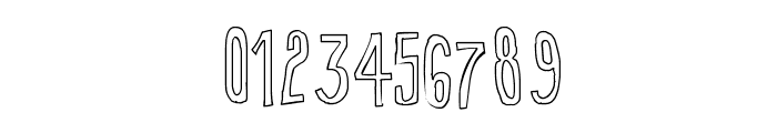 True 2D Outline Font OTHER CHARS